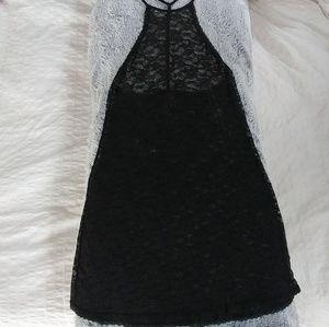 Lace High-Neck Slip
